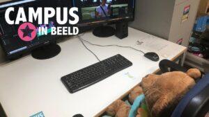 Campus in Beeld Intromarkt: Monteren kun je leren (met beren)